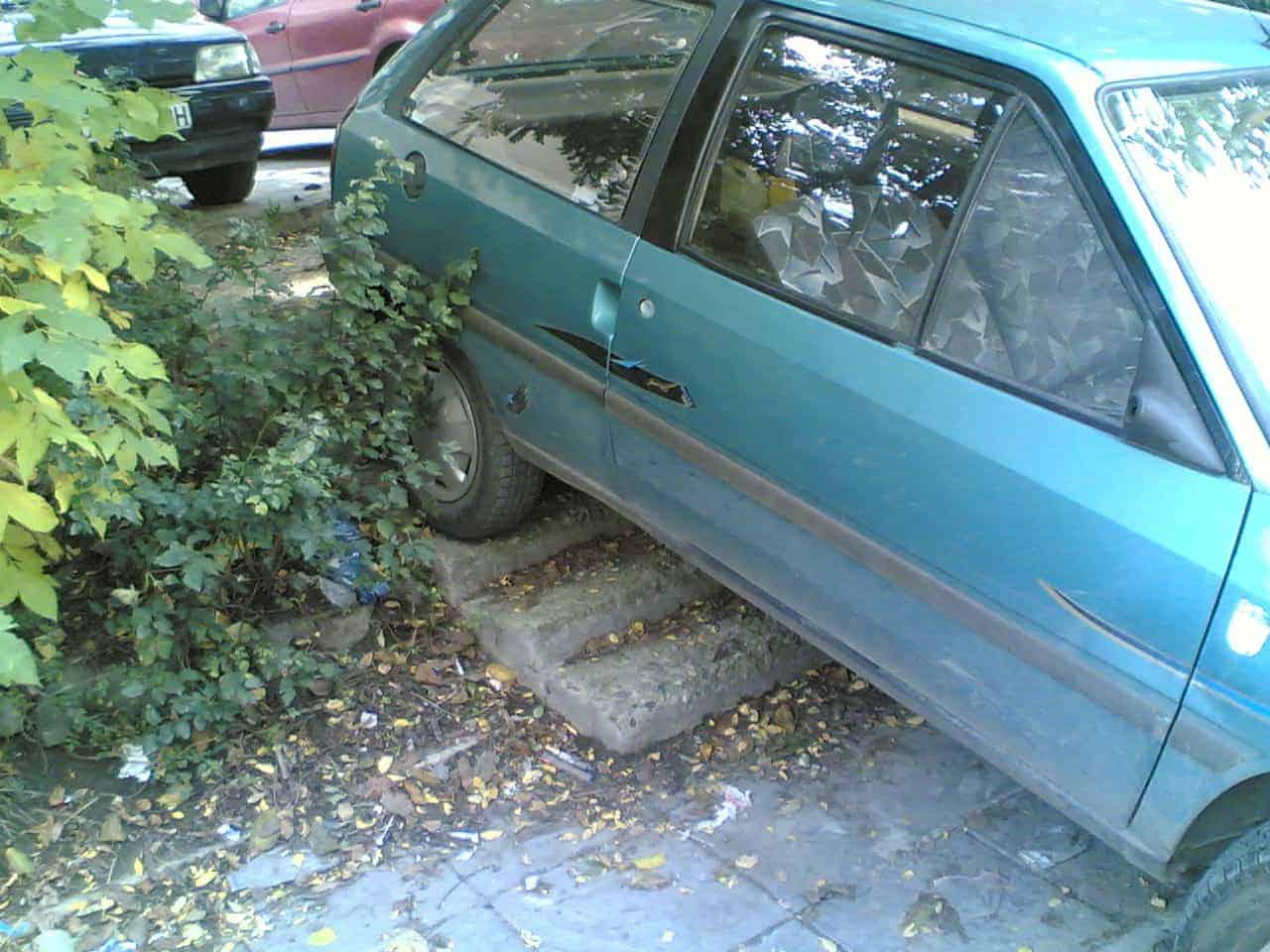Неправилно паркиране!