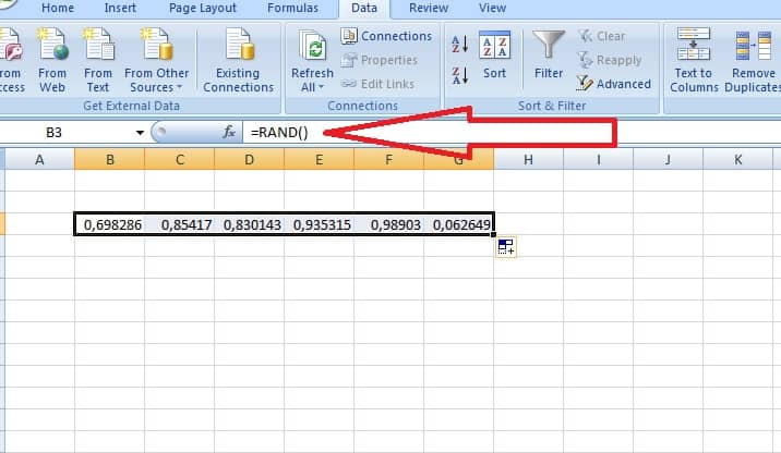Случайни числа в Excel